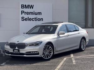 BMW 7シリーズ 740Li Mスポーツ ・認定保障・リアコンフォートプラス・レーザーライト・黒レザー・サンルーフ・全周囲カメラ・地デジ・マッサージシート・後席モニター・レーンキープ・シートエアコン・電動リアゲート・衝突軽減ブレーキ・ETC