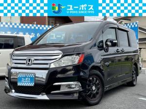 ホンダ ステップワゴンスパーダ S 純正HDDナビ・地デジ・Rカメラ・フリップダウンモニター・電動スライドドア・HID・ETC・スマートキー2個・社外16インチアルミ・ユーザー買取車