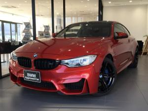 BMW M4 M4クーペ Mスポーツシート ブラックレザーシート 電動シート MDrive 地デジ パドルシフト 19インチブラックAW カーボンルーフ シルキーシックス レーンチェンジウォーニング Bカメラ