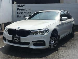 BMW 5シリーズ 523dツーリングMスポーツ認定保証1オナ白革デビューPKG