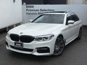 BMW 5シリーズ 523dツーリング Mスポーツ ・ワンオーナー・認定保証・パノラマサンルーフ・ハイラインPKG・イノベーションPKG・ヘッドアップディスプレイ・LEDヘッドライト・ブラックレザー・前後シートヒーター・電動リアゲート・ブラックキドニー