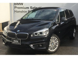 BMW 2シリーズ 218dグランツアラー ラグジュアリー ・認定保証・1オーナー・黒革・シートヒーター・アクティブクルーズコントロール・ヘッドアップディスプレイ・アドバンスドパーキングサポート・コンフォートアクセス・LEDヘッドライト・電動リアゲート・F46