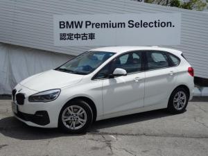 BMW 2シリーズ 218dアクティブツアラー 認定保証・弊社デモカー・パーキングサポート・バックカメラ・前後PDC・Bluetooth・LEDヘッドライト・純正ナビ・DVD再生・Bluetooth・オートライト・オートワイパー・ミラーETCF45