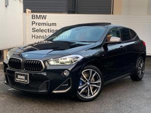 BMW X2 M35i マグマレッドレザー・セレクトパッケージ・パノラマガラスサンルーフ・メモリー付電動シート・シートヒーター・アクティブクルーズコントロール・電動トランク・HDDナビ・パドルシフト・LEDヘッドライト・