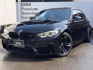 BMW M3 M3 ・全国認定保証・サキールオレンジレザーシート・アダプティブMサス・純正19AW・Pサポ・アダプティブLEDヘッドライト・純正HDDナビ・バックカメラ・レザーフィニッシュ・リアデュフーザ・ETC・F80