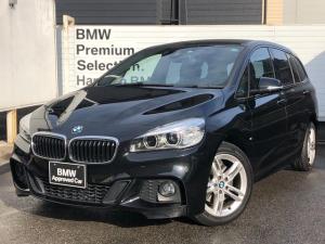 BMW 2シリーズ 218dグランツアラー Mスポーツ 認定保証・コンフォートパッケージ・電動リアゲート・コンフォートアクセス・純正ナビ・Bカメラ・Bluetooth・3列シート・LEDヘッドライト・オートライト・オートワイパー・SOS・ミラETC・F46