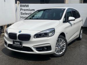 BMW 2シリーズ 218dグランツアラー ラグジュアリー ・認定保証・ワンオーナー・コニャックレザー・シートヒーター・コンフォートパッケージ・電動リアゲート・メモリ付き電動シート・サードローシート・純正HDDナビ・Bluetooth・バックモニター・F46