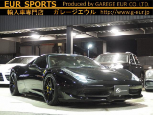 フェラーリ 458イタリア ベースグレード F1 DCT ESスポーツマフラー可変バルブ
