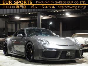 ポルシェ 911 911カレラ 正規ディーラー車 EUR-GTRワイドボディ ES9-21inアルミ ESスポーツマフラー(可変バルブ付) ESダウンサス パークトロニック 電格ミラー キセノン 純正メモリーナビ フルセグTV バックカメラ ETC