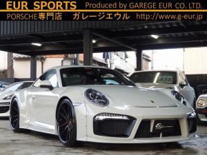 ポルシェ 911 911カレラS EUR-GTRワイドボディ 21inアルミ ESスポーツマフラー(可変バルブ付) ESダウンサス スポーツクロノPKG PASM サンルーフ BOSEサウンド レッドレザーシート シートヒーター 社外HDDナビ Bカメラ ETC