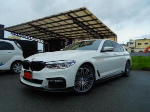 BMW 5シリーズ 530e Mスポーツアイパフォーマンス Mパフォーマンスパーツ カーボンスポイラー Sステップ ブラックキドニーグリル 黒革 全席シートヒーター ナビ DTV ETC 360カメラ 電動トランク 衝突軽減 ACC Rキープ Pアシスト