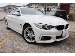 BMW 4シリーズ 420iグランクーペ Mスポーツ 2年間長期無料保証付 LEDヘッドライト 黒革シート シートヒーター 純正ナビフルセグTV バックカメラ ミラー型ETC アクティブクルーズコントロール