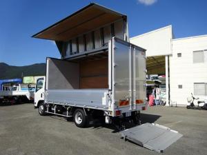 いすゞ エルフトラック  アルミウイング 極東開発 床下格納パワーゲート 3150kg積載 ワイド ロング 4.4mボディ