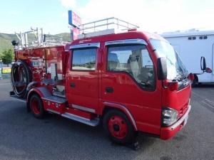 いすゞ エルフトラック  水槽付消防車 消防ポンプ自動車 日本機械工業製 900L積み A-2級 Wキャブ 5人乗り