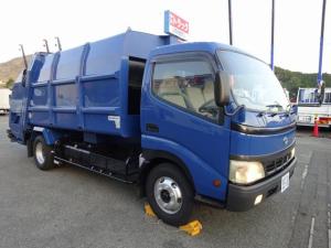 トヨタ ダイナトラック  プレス式パッカー 容積8.2m3 2950kg積載  塵芥車 ワイド幅 ロング 汚水タンク付 連続積込