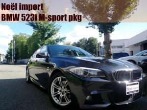 BMW 5シリーズ 523i Mスポーツパッケージ 禁煙車/純正Mスポーツ18AW/WATEX前後ドラレコ/純正HDDナビ/地デジFセグ/ミュージックサーバー/Bカメラ