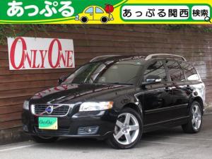 ボルボ V50 2.0クラシック 後期モデル 特別仕様車 ブラックレザーシート シートヒータ パワーシート サンルーフ 17インチAW オプションCarrozzeria製HDDナビ