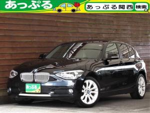 BMW 1シリーズ 116i スタイル 1オーナ オプション17AW 衝突軽減ブレーキ クルーズコントロール ハーフレザーシート キセノンライト i-driveナビ BTオーディオ アイドリングストップ Bカメラ バックソナー スマートキー