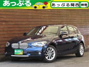 BMW 1シリーズ 116i スタイル 1オーナ 禁煙 ハーフレザーシート キセノン LEDリング式ポジション i-driveナビ バックカメラ Bluetoothオーディオ パーキングサポートPKG アイドリングストップ