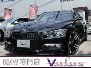 BMW 3シリーズ 320iツーリング ラグジュアリー 黒革シート シートヒーター ウッドパネル オートテールゲート 新品19インチアルミホイール エアロ 禁煙車!