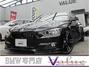 BMW 3シリーズ 320iラグジュアリー 黒革シート ウッドパネル TV ACC 新品19アルミ エアロ 禁煙車