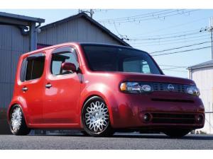 日産 キューブ 15X Vセレクション北米バンパー&ヘッド18インチ車高調