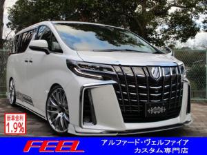トヨタ アルファード 2.5S Cパッケージ 2.5S C 新作LUSSOフルエアロ 車高調 21inアルミ