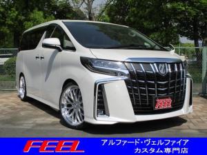 トヨタ アルファード 2.5S Cパッケージ 3眼LED シートヒーター 21インチアルミホイールタイヤセット 車高調 パワーバックドア