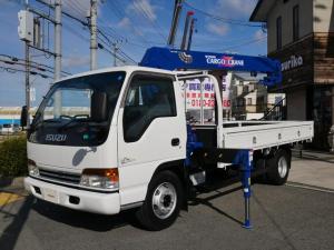 いすゞ エルフトラック タダノクレーン4段 フックイン 6速ミッション 3.5t