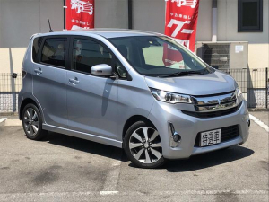 三菱 eKカスタム T e-アシスト TV ナビ 軽自動車 衝突被害軽減システム