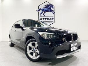 BMW X1 sDrive 18i ハイラインパッケージ ブラックレザーシート 中期純正ナビ バックモニター シートヒータ― 純正17インチAW HID プッシュスタート スマートキー2個あり ETC