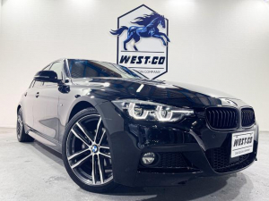 BMW 3シリーズ 320i Mスポーツ EditionShadow 限定車マルチファンクションデジタルメーター専用ダークLEDヘッド&テールライト専用グリル19inchAW黒革シートブルーステッチ衝突軽減装置レーンディパーチャーBモニターBluetooth