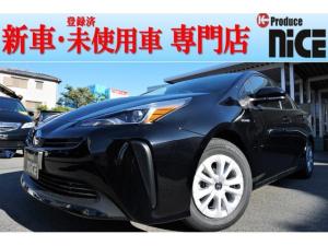 トヨタ プリウス S 新車LEDライトレーダークルーズ衝突軽減ブレーキ 黒内装