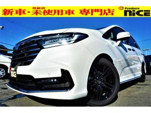 ホンダ オデッセイ アブソルート・EX 新車・本革シート・パワーバックドア・BSM・360度カメラ・シートヒーター・ホンダセンシング・ジェスチャーコントロールパワースライドドア・クリアランスソナー・LEDヘッドライト