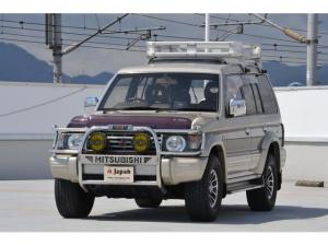三菱 パジェロ ワイド エクシード 1オーナー 革 SR リアラダーキャリア