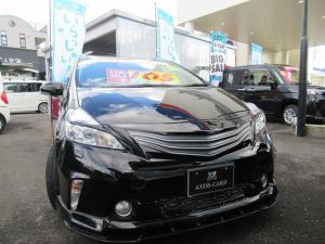 トヨタ プリウスアルファ S 外品エアロ・外品グリル・外品テールランプ外品18インチアルミホイルアルパイン専用ナビ・TV