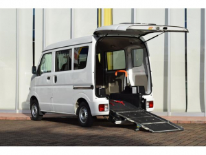 日産 NV100クリッパーバン 車いす移動車 純正SDナビ スロープ 電動ウインチ