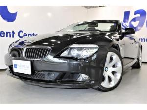 BMW 6シリーズ 650iカブリオレ 電動オープン 全黒本革シート ヒーター付 3メモリ電動シート ヘッドアップディスプレイ クルーズコントロール 純正HDDナビバックモニター ナイトビュー パークディスタンス キーレス プッシュスタート HID 19インチAW ETC ドラレコ