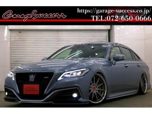 トヨタ クラウンハイブリッド RS ワンオーナー/プリクラッシュ/新品タイヤ/新品SSR20インチ/新品TEIN車高調/ローダウン/ETC/フルセグTV/Bluetooth/ETC/3眼LEDヘッドライト/レーダークルーズ