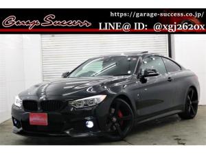 BMW 4シリーズ 435iクーペ Mスポーツ サンルーフ/赤レザーシート/Fカーボンスポイラー/3Dデザイン20AW/カーボントランクスポイラー/3Dデザインフットペダル/カーボンドアミラー/ブラックグリル/