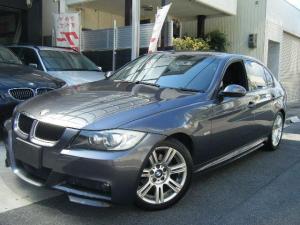 BMW 3シリーズ 320i Mスポーツパッケージ カーボンリップスポイラー 社外エアクリーナー マフラー サイドステップ サイバーナビ ブラックテールライト