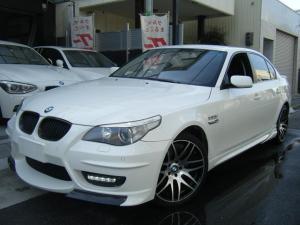 BMW 5シリーズ 525i エナジーコンプリートカー、19インチアルミ フルエアロ 4本ダシマフラー シロパール全塗装 車高調