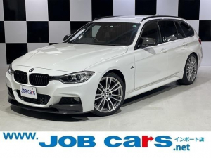 BMW 3シリーズ 320iツーリング Mスポーツ 社外Fスポイラー・カーボンドアミラー・シフトノブ 純正ナビ バックカメラ ETC クルーズコントロール レーンアシスト 社外レーダー 前席パワーシート HID Bluetooth 禁煙車 ドラレコ
