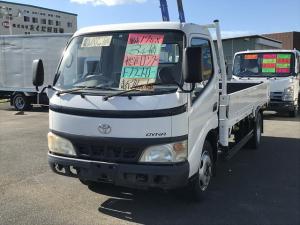 トヨタ ダイナトラック ロング フルフラットロー 3t積 DVDナビ ETC