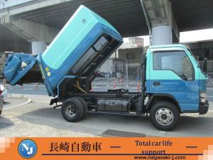 いすゞ エルフトラック パッカー車 フジマイティ回転ダンプ式6.7立米積載3.1トン