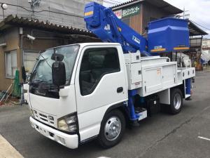 いすゞ エルフトラック 500Kg高所作業車タダノ11m通信工事用バケット200Kg