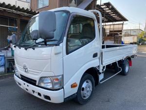 トヨタ ダイナトラック 2tセミロング平ボディ11尺 全低床フルジャストロー 6AT アオリ開閉補助装置 総重量4505Kg