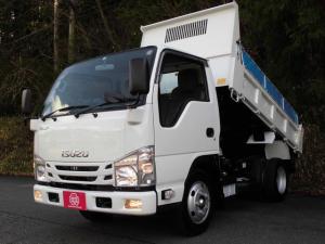 いすゞ エルフトラック 強化フルフラットローダンプ 3トン積4No AT車 ナビTV