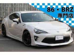 トヨタ 86 GTリミテッド 6速MT モデリスタエアロ HKSマフラー レイズ18インチAW 純正SDナビTV Bカメラ シートヒーター クルーズコントロール LEDヘッドライト