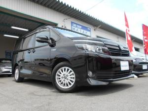 トヨタ ヴォクシー ハイブリッドV SDナビ ブルートゥース ETC 11型フリップダウンモニター シートヒーター 電動スライドドア LEDライト オートライト クルーズコントロール 置くだけ充電 全国1年保証